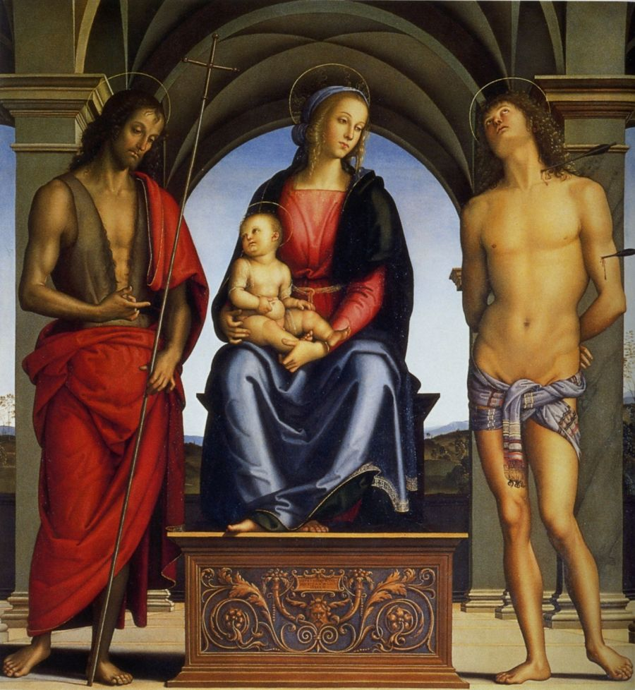 Madonna And Child With St John The Baptist And St Sebastian