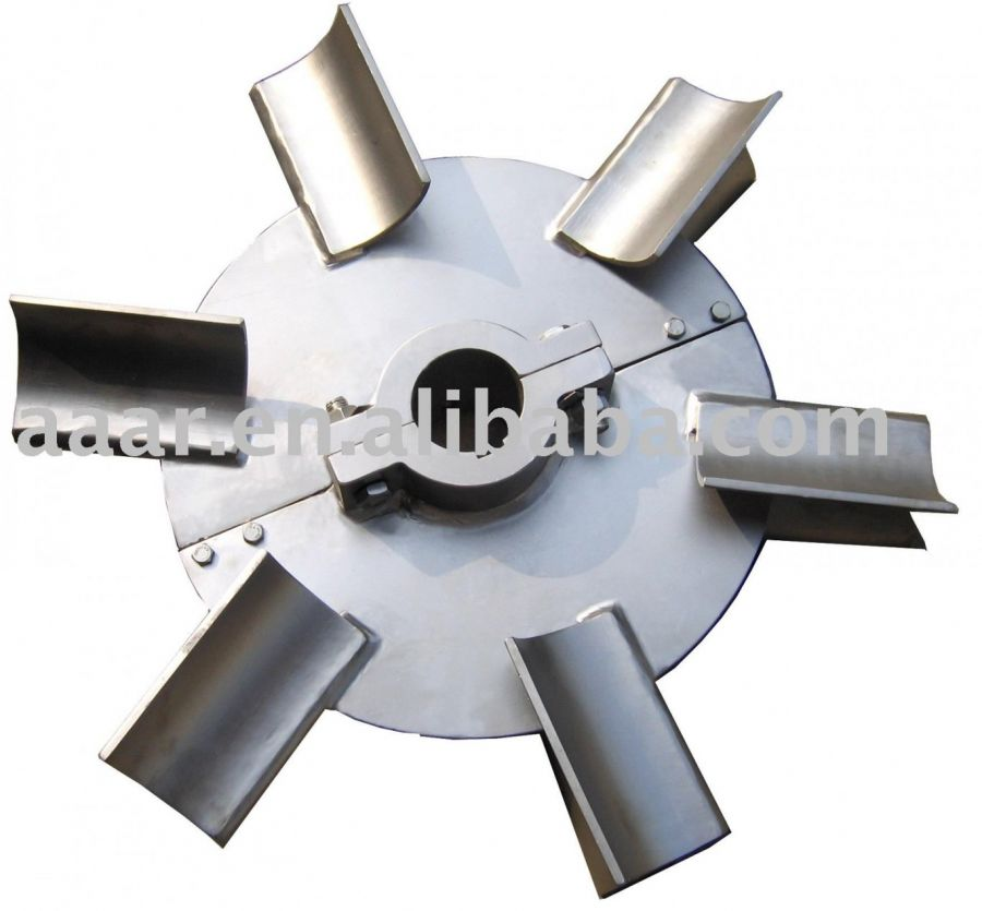 Disc Turbine Impeller With Arc Type Blades