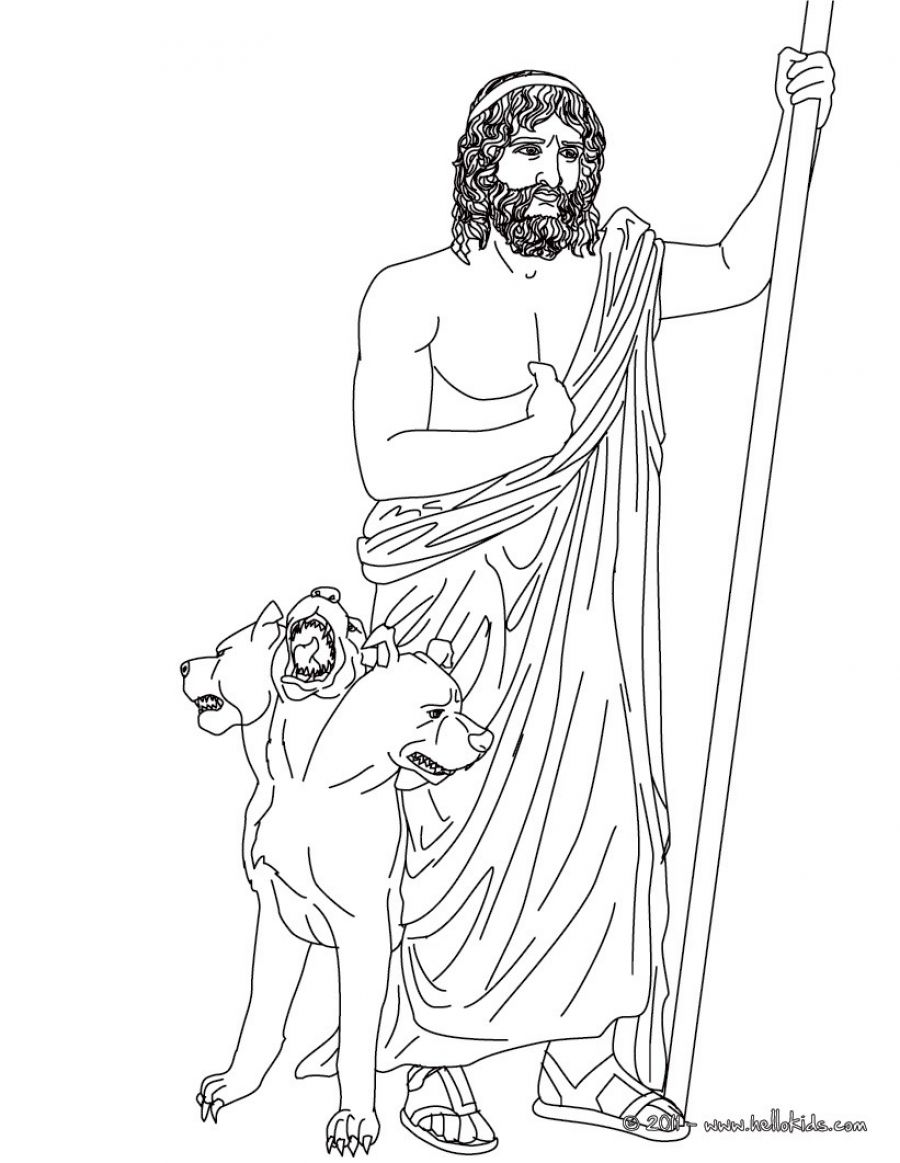 Hades Greek God Of The Underworld Coloring Page Source