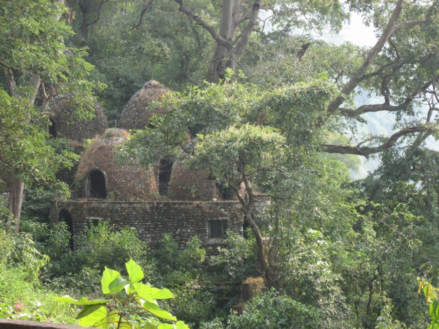 Meditation Chambers At The Old Maharishi Mahesh Yogi Ashram Now In Ruins Muni Ki Reti